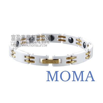 【MOMA】陶瓷鍺磁手鍊窄版-M67LG-最佳情人禮