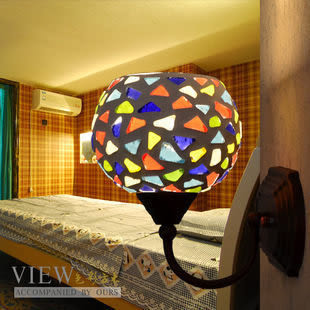 設計師美術精品館色彩燈飾燈具 馬賽克鐵藝壁燈鏡前燈 996-138彩珠壁燈