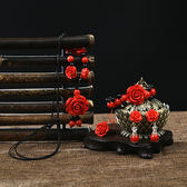 新品開光朱砂漆雕貔貅紅手鍊男女情侶