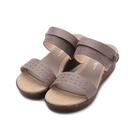 milky milky 麻編雕花楔型涼鞋 橡木 5362 女鞋