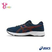 ASICS慢跑鞋 男鞋 GEL-CONTEND 6 跑步鞋 路跑運動鞋 亞瑟士 B9172#藍橘◆OSOME奧森鞋業