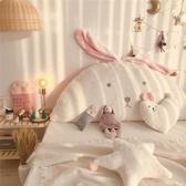 兔兔絨超萌軟糯刺繡兔耳朵床頭大靠背兔子沙發靠墊抱 凱斯盾