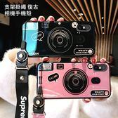 贈同款支架掛繩 iPhone X Xs Max Xr  藍光相機 保護殼 創意 TPU全包 手機殼 蘋果 減震防摔 保護套