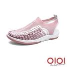 涼鞋 玩潮飛織編織繩情侶鞋(女款-粉)*0101shoes【18-D999pk】【現+預】