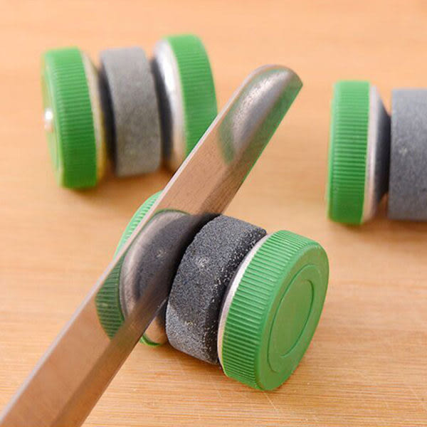 【TT277】圓形廚房家用快速天然磨刀石 日本磨剪子器菜刀 工具 專業剪刀棒