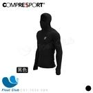 【Compressport 瑞士】通用款 超輕量運動連帽T 黑 CS1-1634-0BK 原價4400元