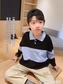 男童長袖T恤 小貝潮品男童純棉polo衫秋裝新款韓版中大童春秋T恤兒童洋氣 瑪麗蘇