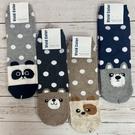 韓國襪子 可愛動物長襪 點點動物襪 狐狸 狗狗 熊熊