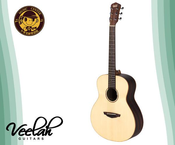 小麥老師Veelah 36吋旅行小吉他 mini camper V1-OMMC 電民謠木吉他 桃花心木 單面 缺角