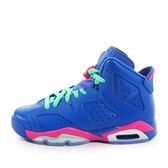 Nike Air Jordan 6 Retro GG [543390-439] 童鞋 喬丹 經典 潮流 休閒 藍 粉紅