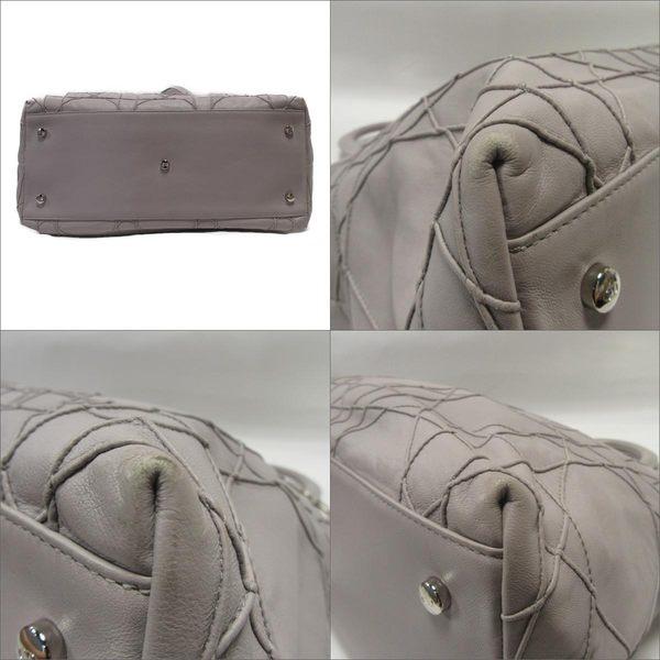 Dior 迪奧 粉紫色牛皮菱格紋路兩用包 【BRAND OFF】