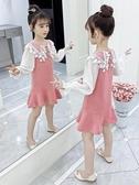 女童連身裙新款韓版洋氣兒童春裝小女孩長袖公主裙子童裝春秋 流行花園