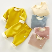 嬰兒保暖衣 兒童寶寶保暖衣冬內衣棉質嬰兒幼兒衣服秋裝衛生衣衛生褲內衣套裝高腰【全館免運】