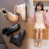 女童馬丁靴真皮2020新款小女孩公主短靴寶寶加絨春秋單靴兒童靴子 美眉新品