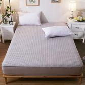 純棉床笠單件夾棉加厚席夢思防滑保護套薄棕墊床墊套1.8m全棉床罩   小時光生活館