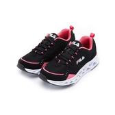 FILA CITY JOGGER 女款黑粉色透氣運動慢跑鞋-NO.5J310U005