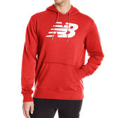 New Balance 男 紅 連帽大學T 經典系列 NB LOGO 長袖上衣 衛衣 帽T AMT81557REP
