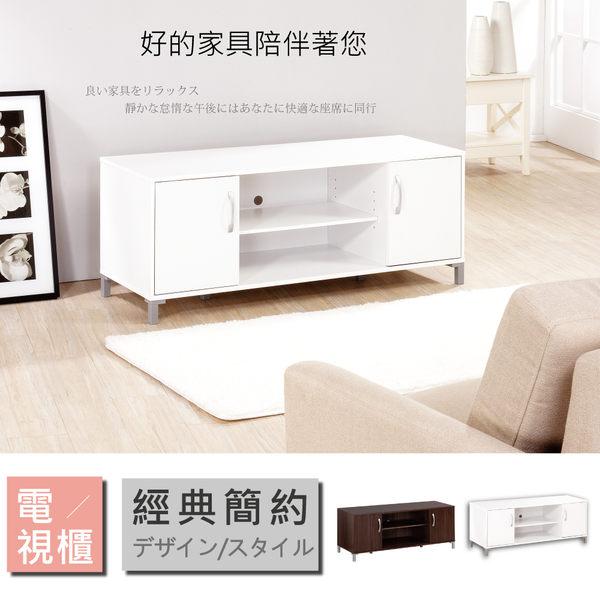 《Hopma》時尚白雙門電視櫃