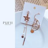 PUFII-耳環 正韓五芒星垂墜風耳環-0226 現+預 春【CP18045】