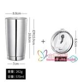 咖啡杯 大容量車載杯子馬克杯304不銹鋼雙層水杯保冷杯保溫咖啡杯