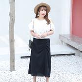中大尺碼~優雅鬆緊帶設計半身裙(XL~4XL)