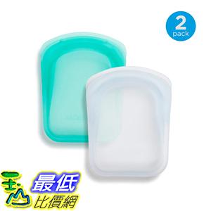 [8美國直購] Stasher 100% 膠硅袋 Silicone Reusable Bags, Pocket Storage Size, 4.5-inch (4-ounce), Set of 2,