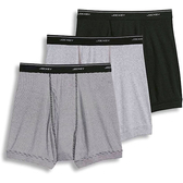 Jockey - 四角3件裝內褲(黑色/灰色)