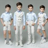 男童禮服夏英倫馬甲套裝小學生走秀演出服花童禮服兒童禮服男 怦然心動