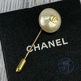 BRAND楓月 CHANEL香奈兒 96年/P 單珍珠 LOGO 胸針 針式 金色 別針 配件 裝飾