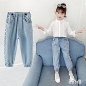 女童牛仔褲 2019秋季新款韓版時尚氣質潮流寬鬆洋氣直筒褲女 YN1169『易購3c館』