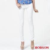 BOBSON 女款高腰膠原蛋白彩色小直筒褲(8126-80)