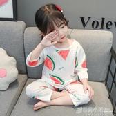 西瓜睡衣夏季薄款兒童家居服純棉小孩男童女童夏天套裝寶寶空調服 格蘭小舖