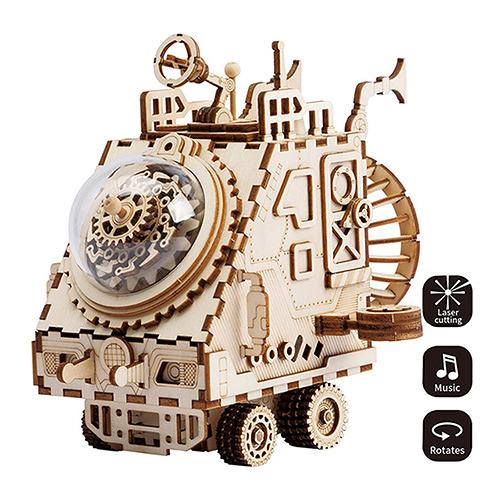 《 Robotime  》3D木製拼圖 - AM681 Spaceship╭★ JOYBUS玩具百貨
