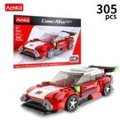 AchKo 澳可 50004 仿真跑車模型積木 305PCS/一盒入(促320) 模擬車模型 世界名車 滑行跑車-CF149791