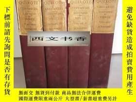 二手書博民逛書店塞萬提斯名著《唐吉訶德4卷全》罕見插圖版,1906年出版,精裝Y
