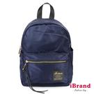 【i Brand】韓系輕時尚口袋尼龍後背包(小)-藍 TBG-745-BL
