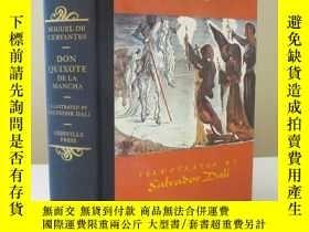 二手書博民逛書店罕見稀少版,塞萬提斯名著《唐吉訶德》薩爾瓦多·達利10精美彩色插