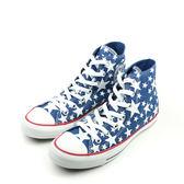 CONVERSE Chuck Taylor All Star  帆布鞋 星星 高筒 藍 男女鞋 148707C no145