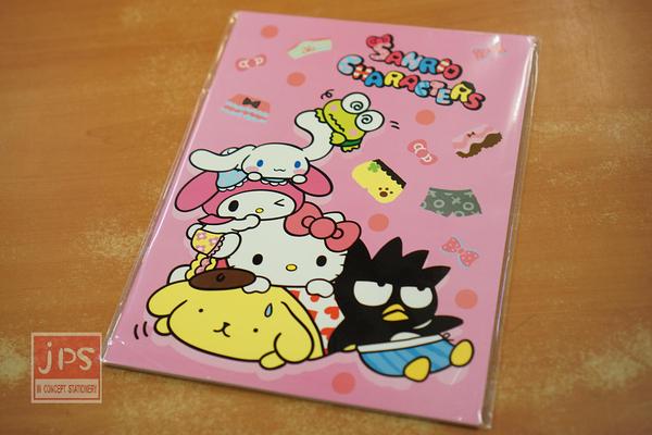 SANRIO 大集合 Hello Kitty Cute屁屁 16K 固頁 橫線 筆記本 粉