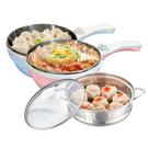 Dowai多偉1.5L蒸健康料理鍋/美食鍋/電炒鍋(含蒸籠)EC-150(顏色隨機出貨)