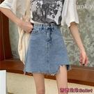 牛仔短裙 小個子牛仔半裙新款高腰a字半身裙顯瘦短裙夏季女士裙子-Ballet朵朵