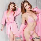 情趣用品【Gaoria】漫步香榭 雪紡睡袍 性感情趣睡衣 粉 N4-0042