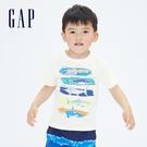 Gap男幼童 布萊納系列 純棉動物印花短袖T恤 697993-白色