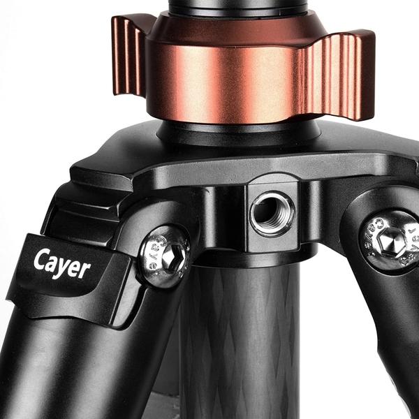 卡宴 Cayer CT3470X3 4節碳纖三腳架+X3專業球型雲台 3號大腳管 【公司貨】