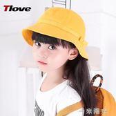 漁夫帽女韓版棉定制小黃帽日系小丸子帽定做小學生帽子 一米陽光