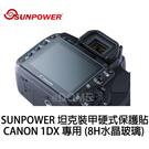SUNPOWER 坦克裝甲 LCD 硬式保護貼 CANON 1DX 專用 2片式 (免運 湧蓮公司貨) 8H水晶玻璃 防撞 防爆 耐刮