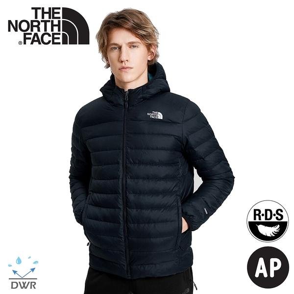 【The North Face 男 700FP 雙面羽絨保暖外套《黑/藍》】4NG3/保暖外套/防潑水/休閒連帽外套