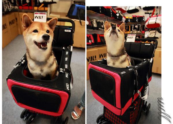 WILL設計 + 寵物用品 萬搭設計 雙層可拆式推車*WB03桃+WB03黃
