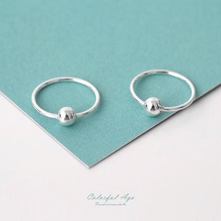 925純銀耳針耳環 細緻質感小圈圈設計耳環 可戴耳骨 抗過敏 柒彩年代【NPD17】一對價格