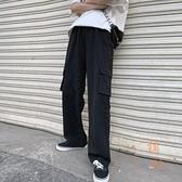 工裝褲女寬鬆高腰直筒褲顯瘦闊腿褲垂感【橘社小鎮】